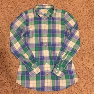 J. Crew XXS Flannel Fitted Shirt for sale